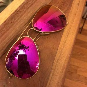 Ray-ban Pink Mirrored Aviators
